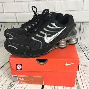 Nike Shox Turbo + VI black shocks running bounce